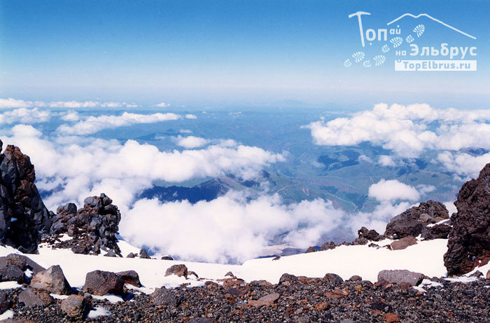 Небо над Малкой - вид с Эльбруса 5200 м