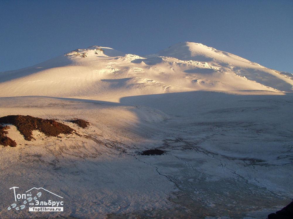 закат на севере Эльбруса