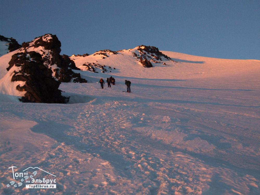 Путь к вершине Эльбруса - высота 4800 м