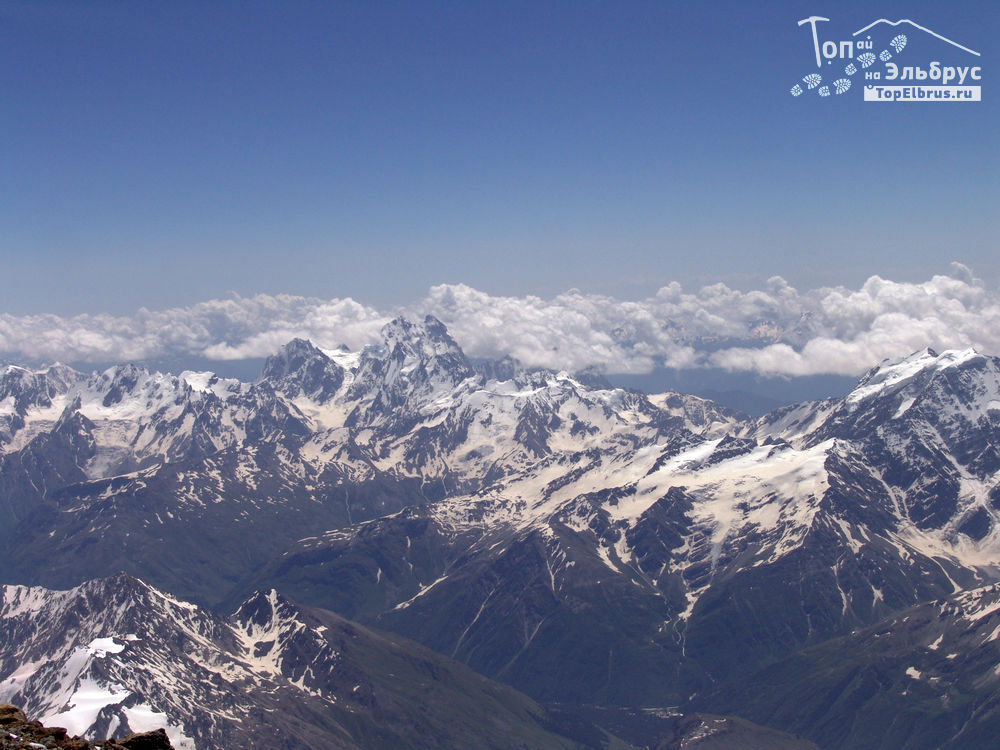 Ушба с вершины Эльбруса