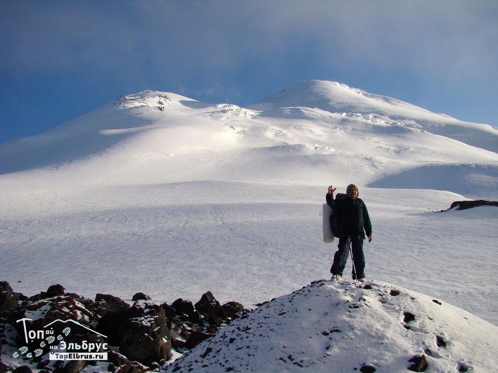 на северном склоне Эльбруса